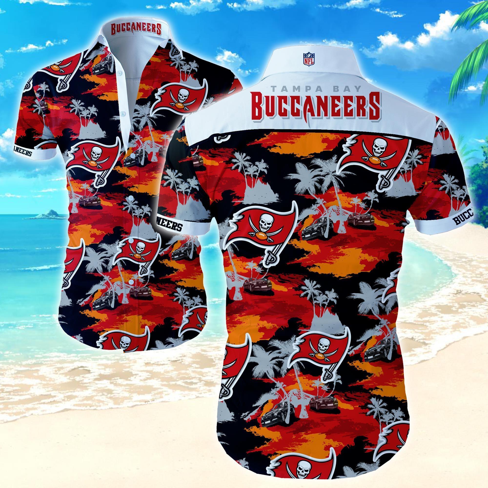 Nfl Tampa Bay Buccaneers Beach Island Hawaiian Shirt