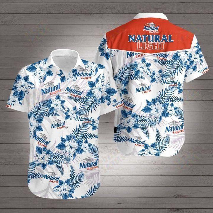 Natural light beer floral Hawaiian Shirt Summer Shirt