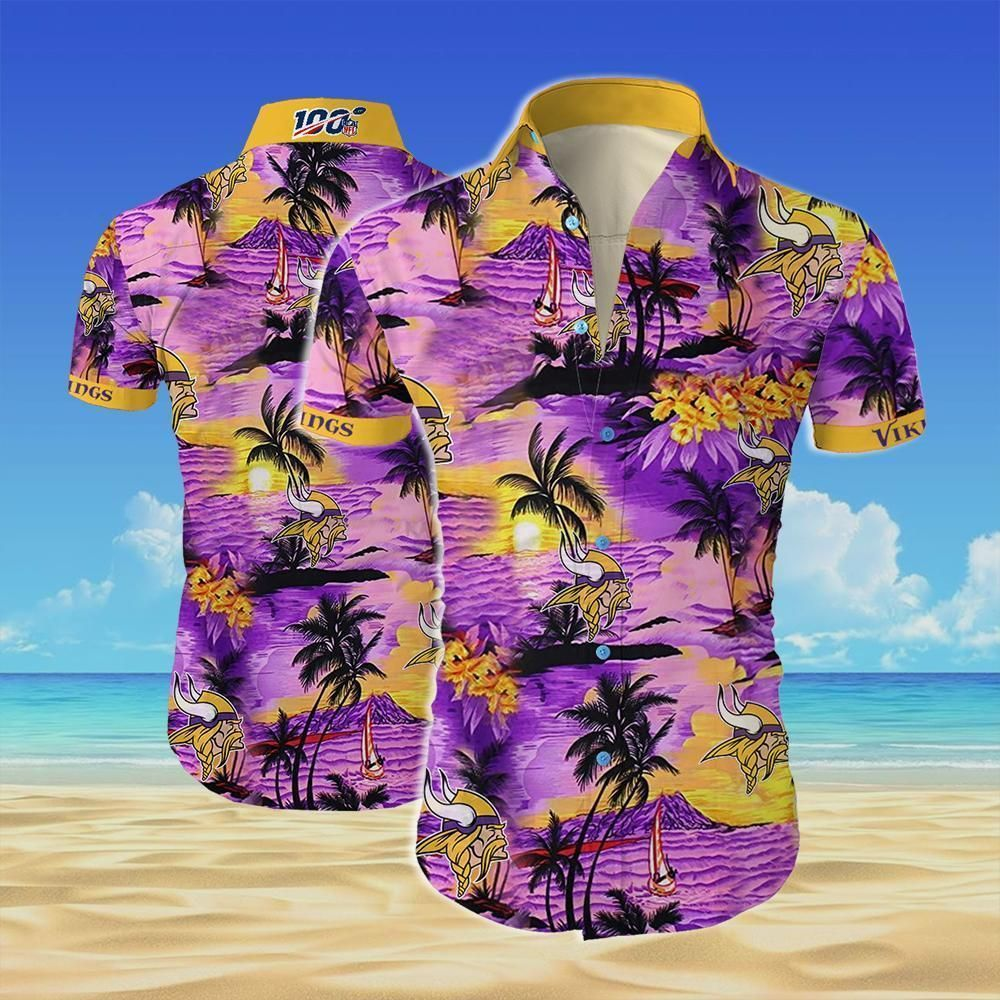 NFL Minnesota vikings team Island Beach Hawaiian Shirt