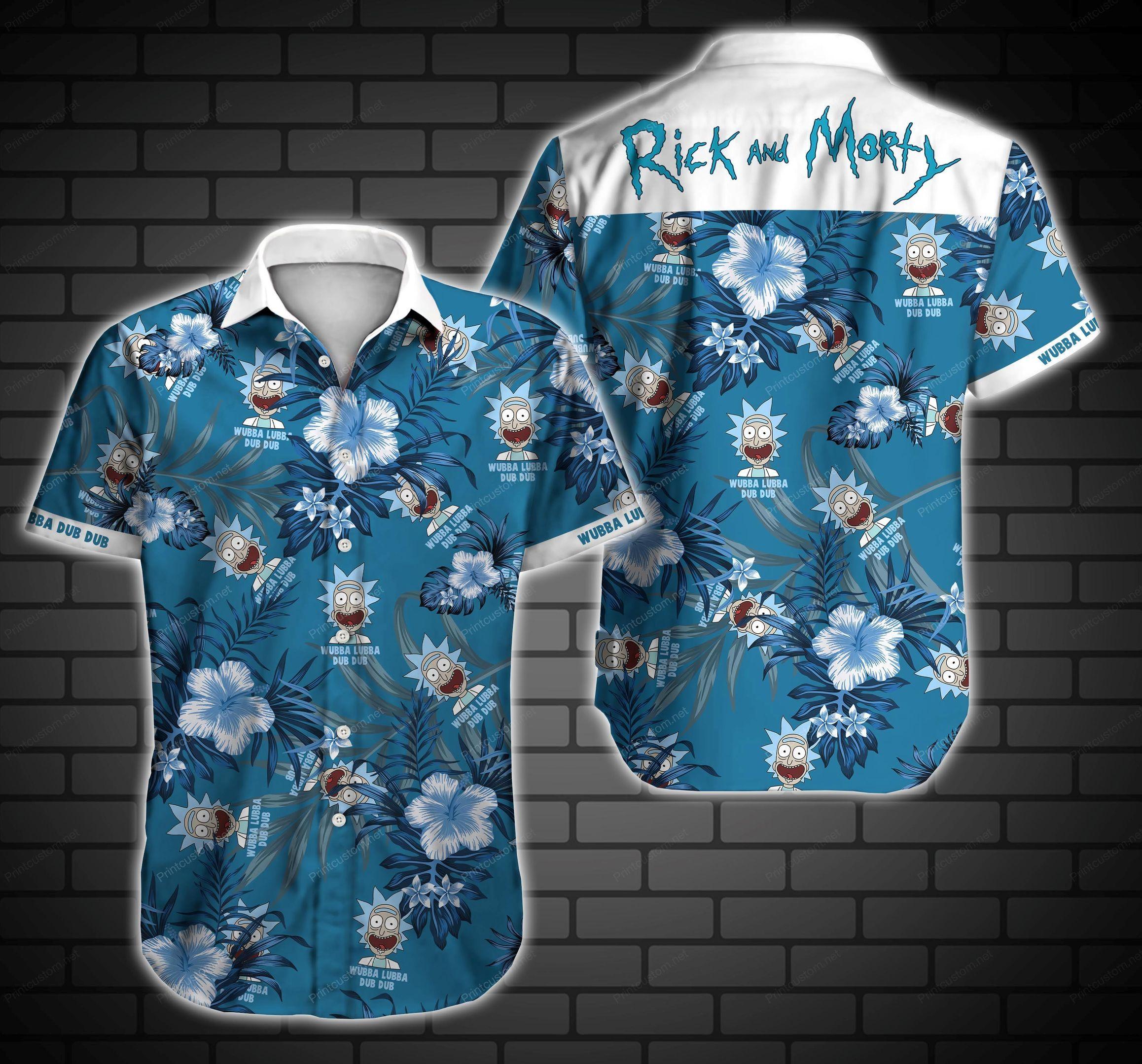 Rick and Morty Wubba Lubba Dub Dub Hawaii Shirt