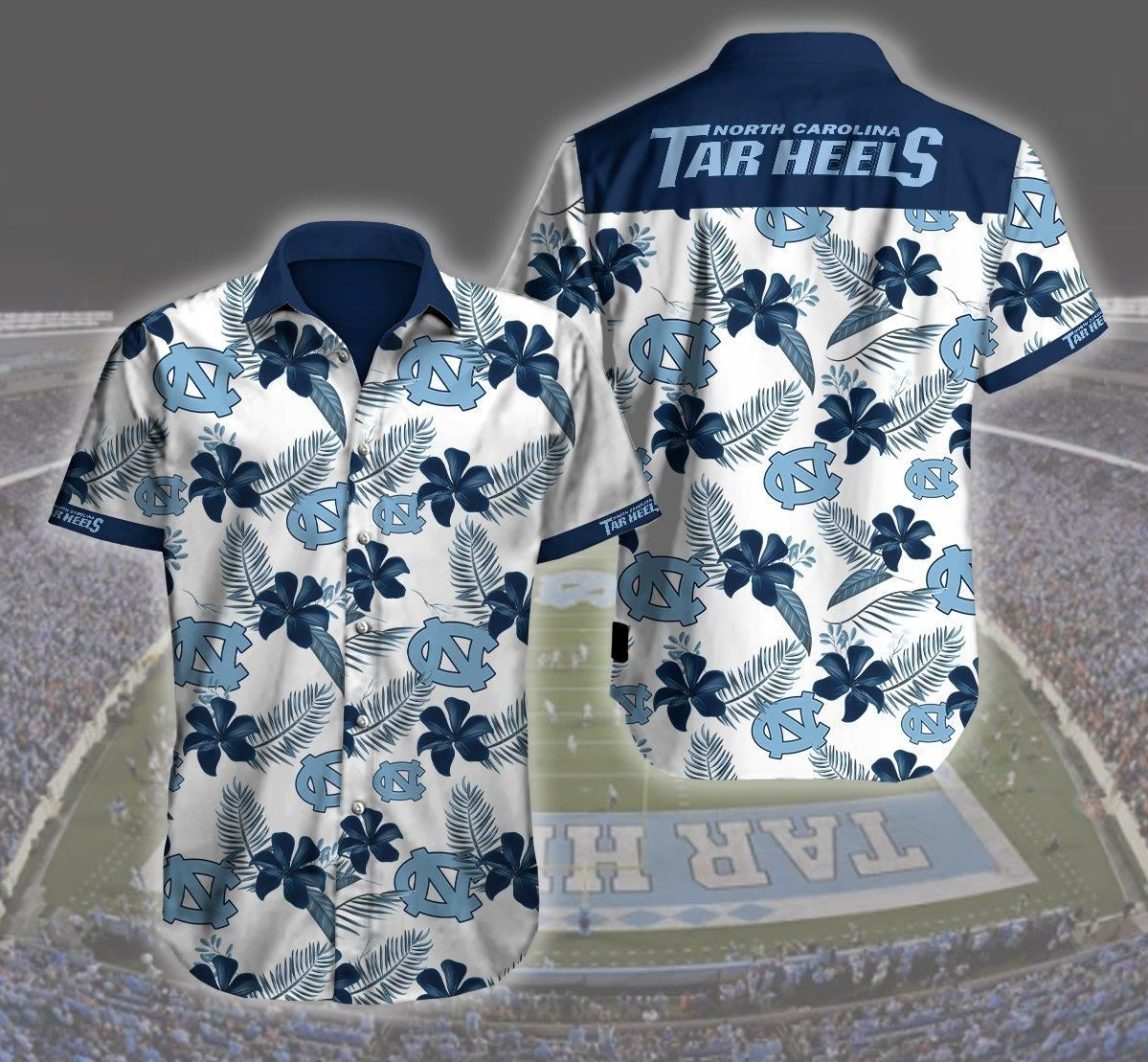 North Carolina Tar Heels 3d Hawaii Shirt