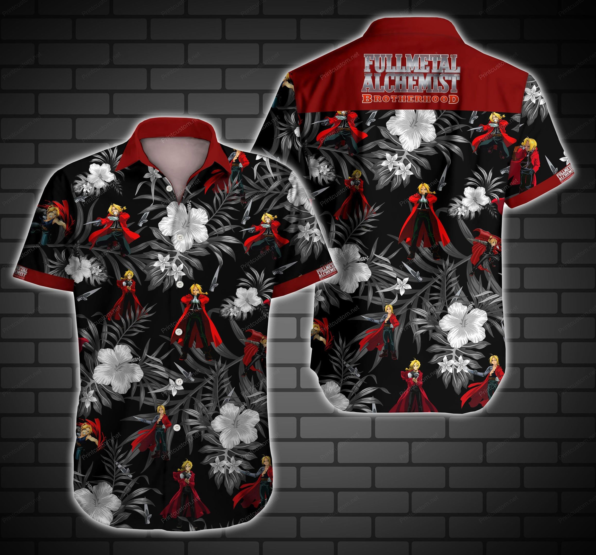 Fullmetal Alchemnist Brotherhood Hawaii Shirt