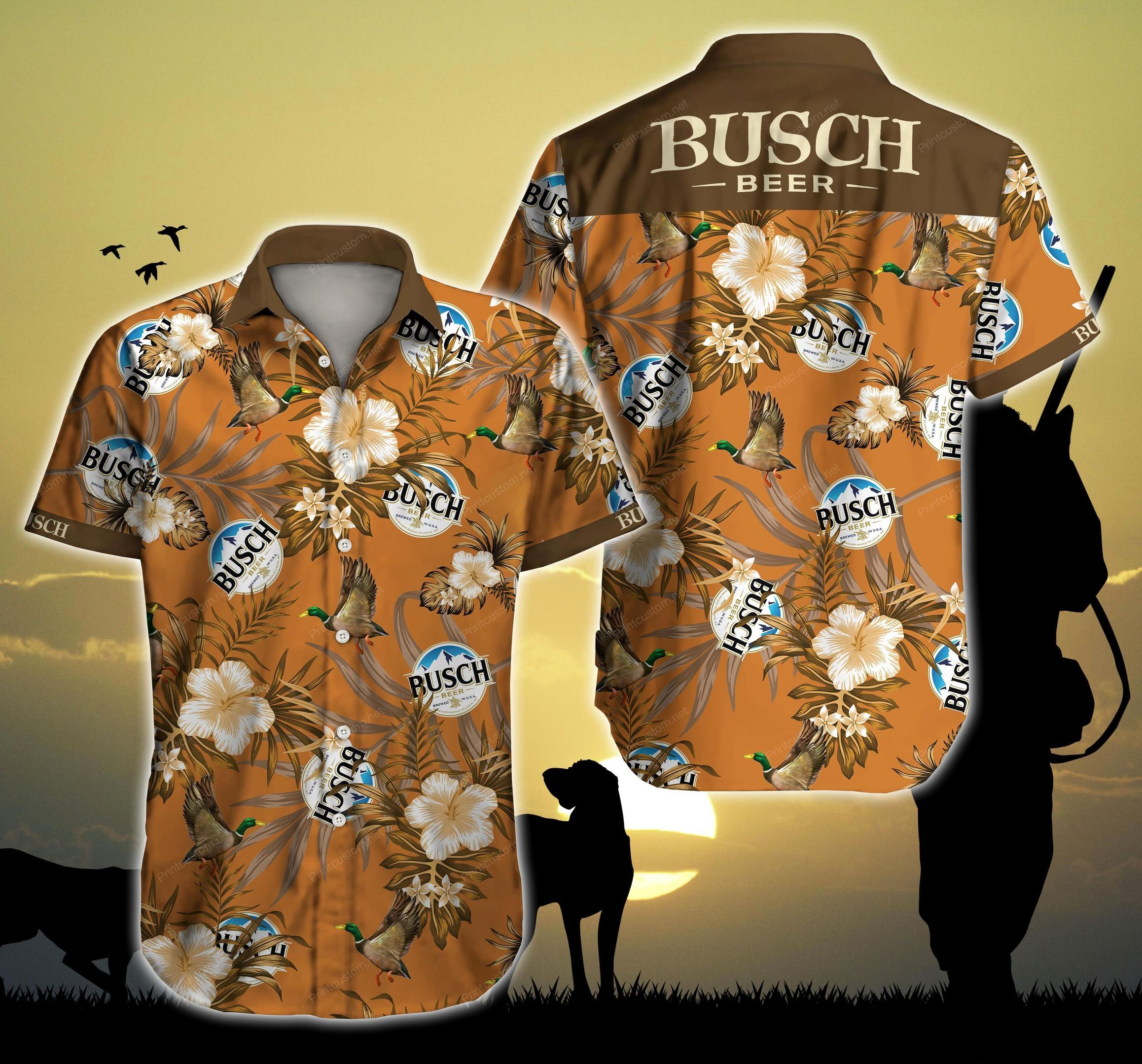 Busch Hunting Mallard Hawaii Shirt