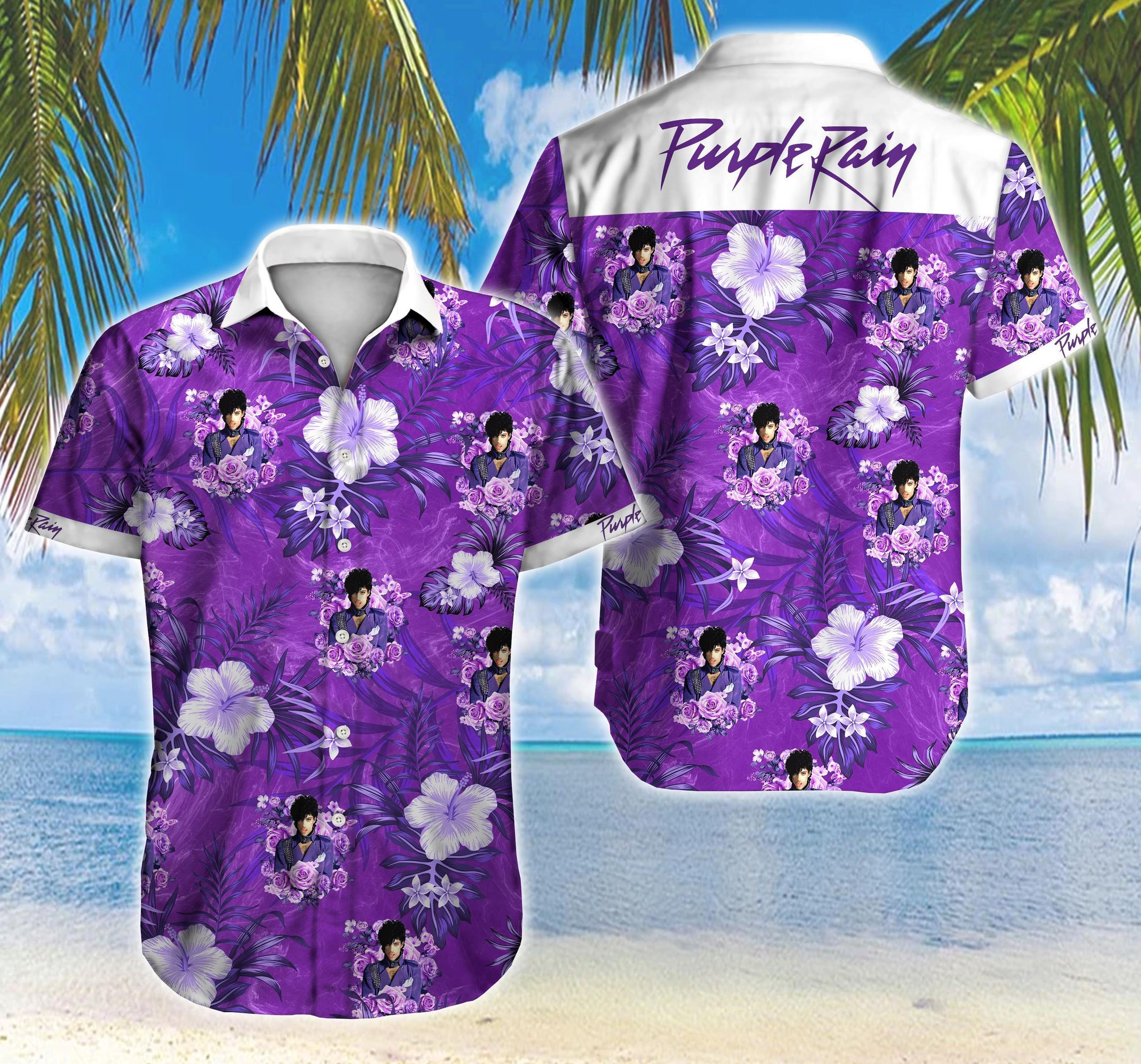 Purple Rain Hawaii Shirt