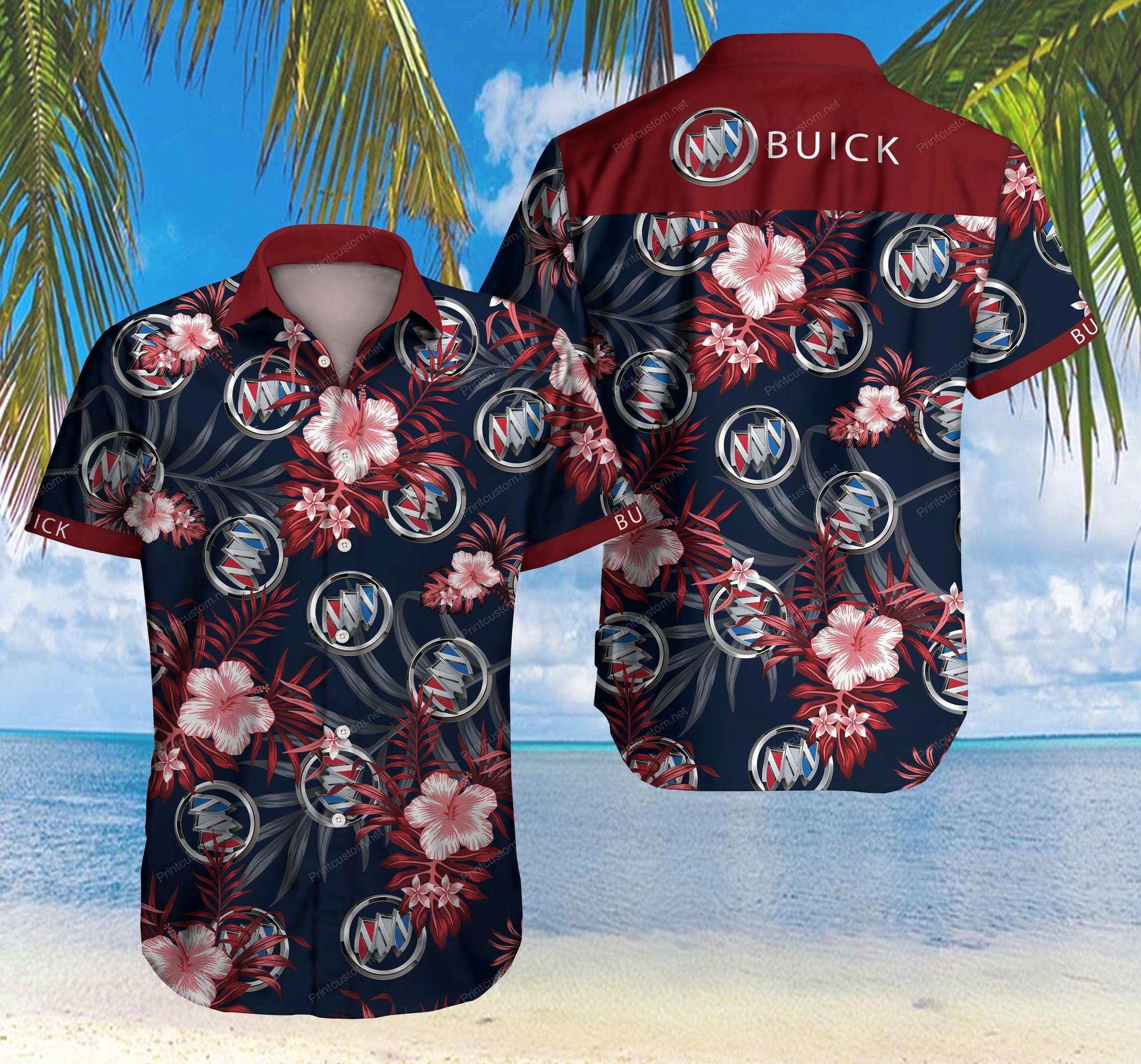 Buick car Floral Hawaiian Shirt Summer Shirt