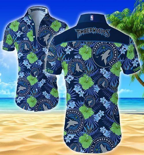 Minnesota Timberwolves Style Hawaii Fit Body Shirt