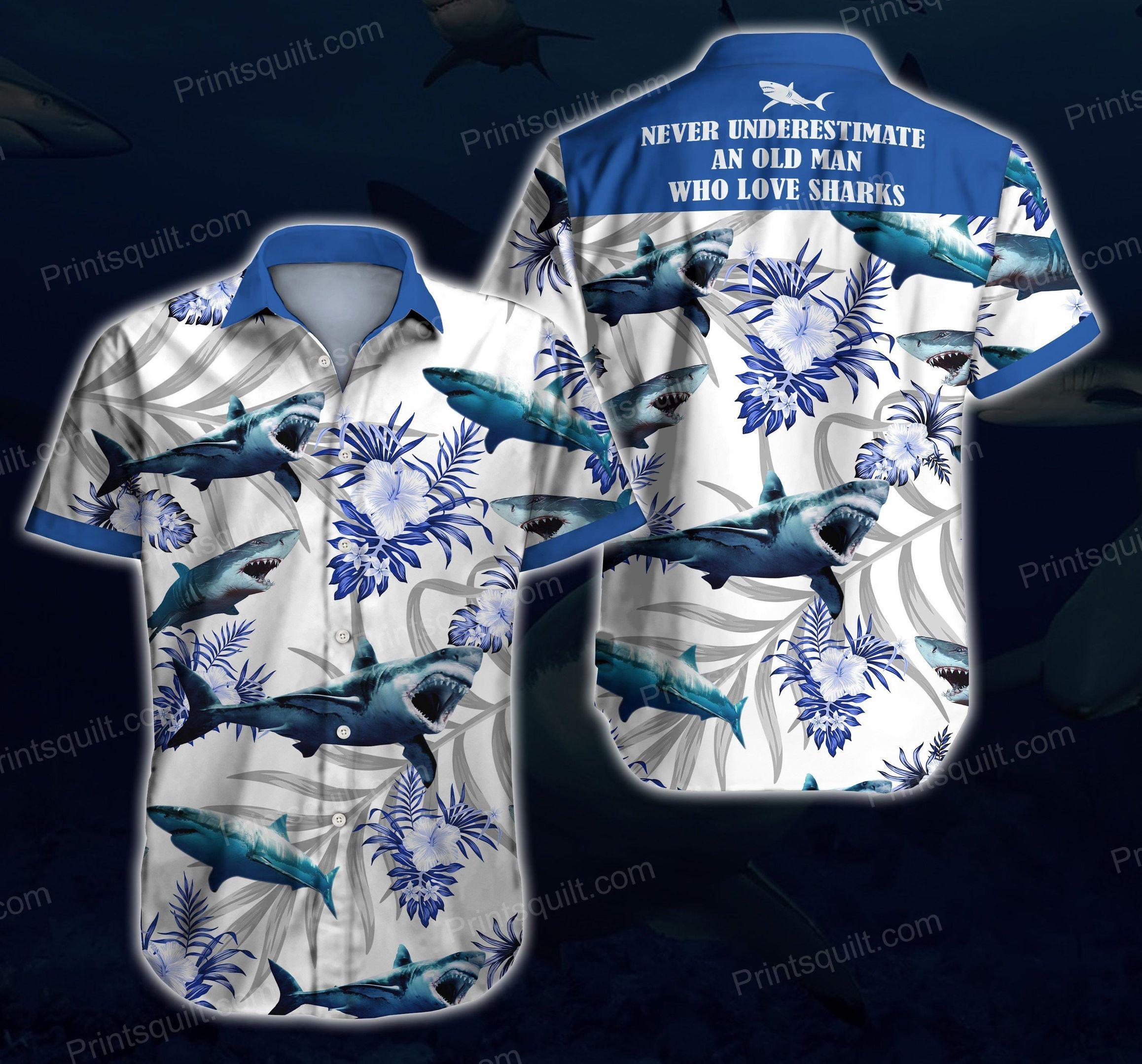 Sharks Lovers 3d Hawaii Shirt Summer Beach Wear