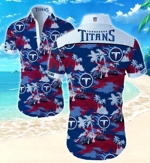 Tennessee Titans Coconut Tree Hawaii Fit Body Shirt