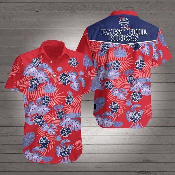 Beer Pabst blue ribbon Hawaiian Shirt Summer Shirt