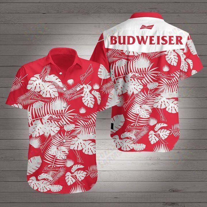 Budweiser beer Floral Hawaiian Shirt