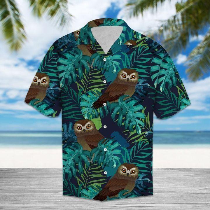 Tropical owl Hawaiian Shirt Beach Wear Shirt