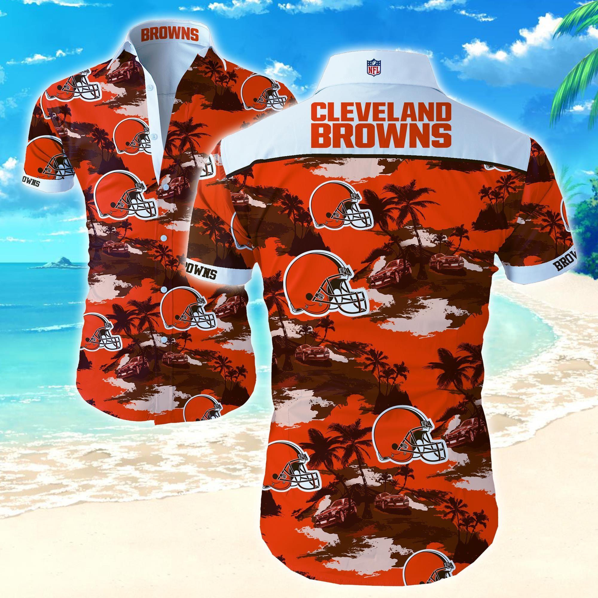 Nfl Cleveland Browns Hawaii Beach Shirt Summer Shirt