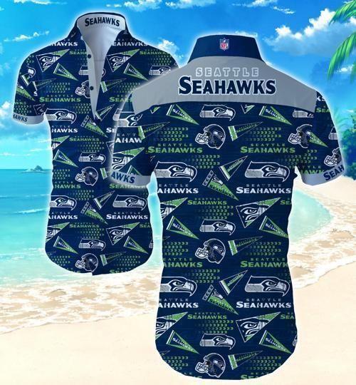 NFL Seattle Seahawks triagle pattern Hawaiian Shirt Summer Shirt