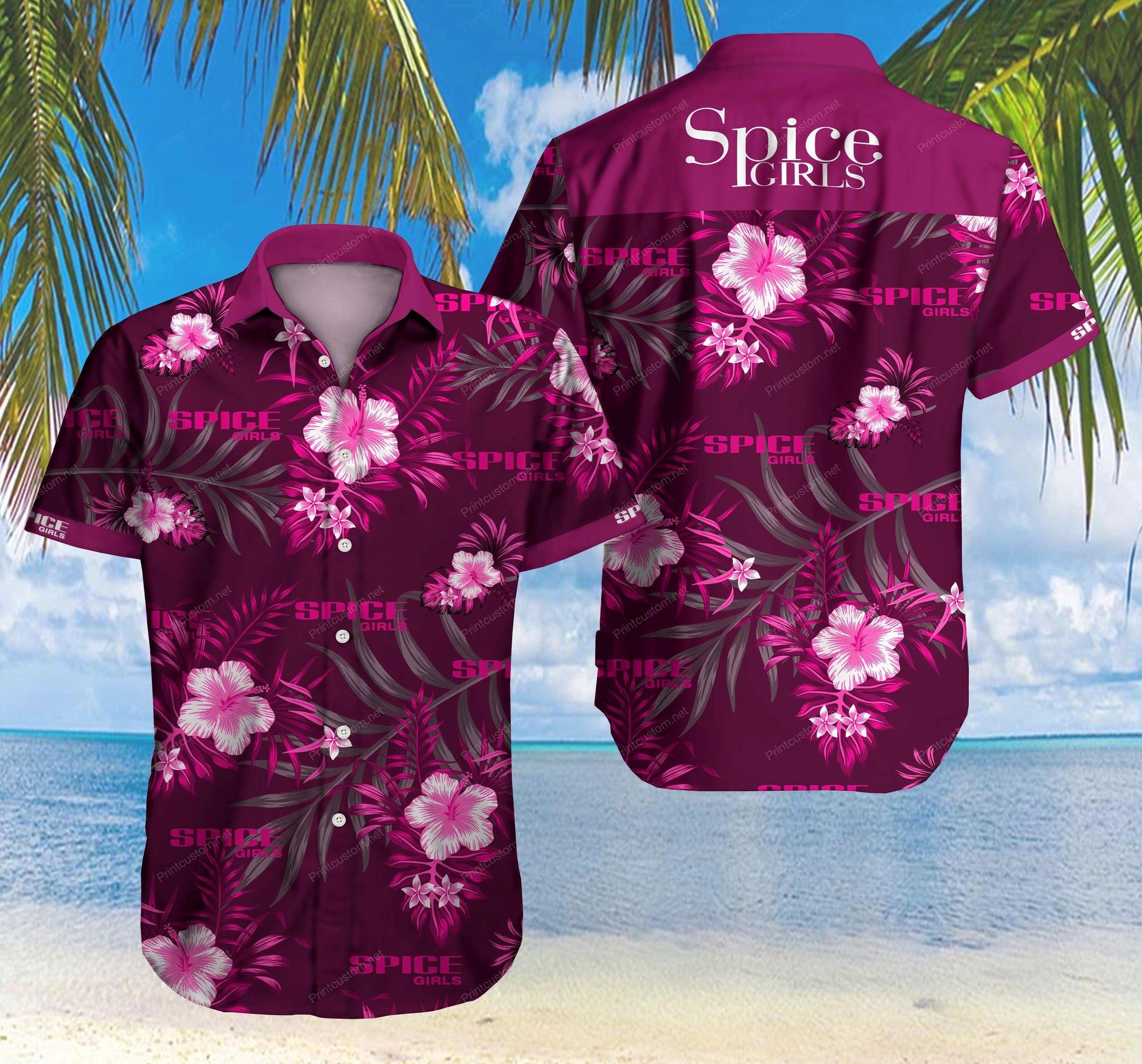 Spice Girl purple Hawaiian Shirt Summer Shirt