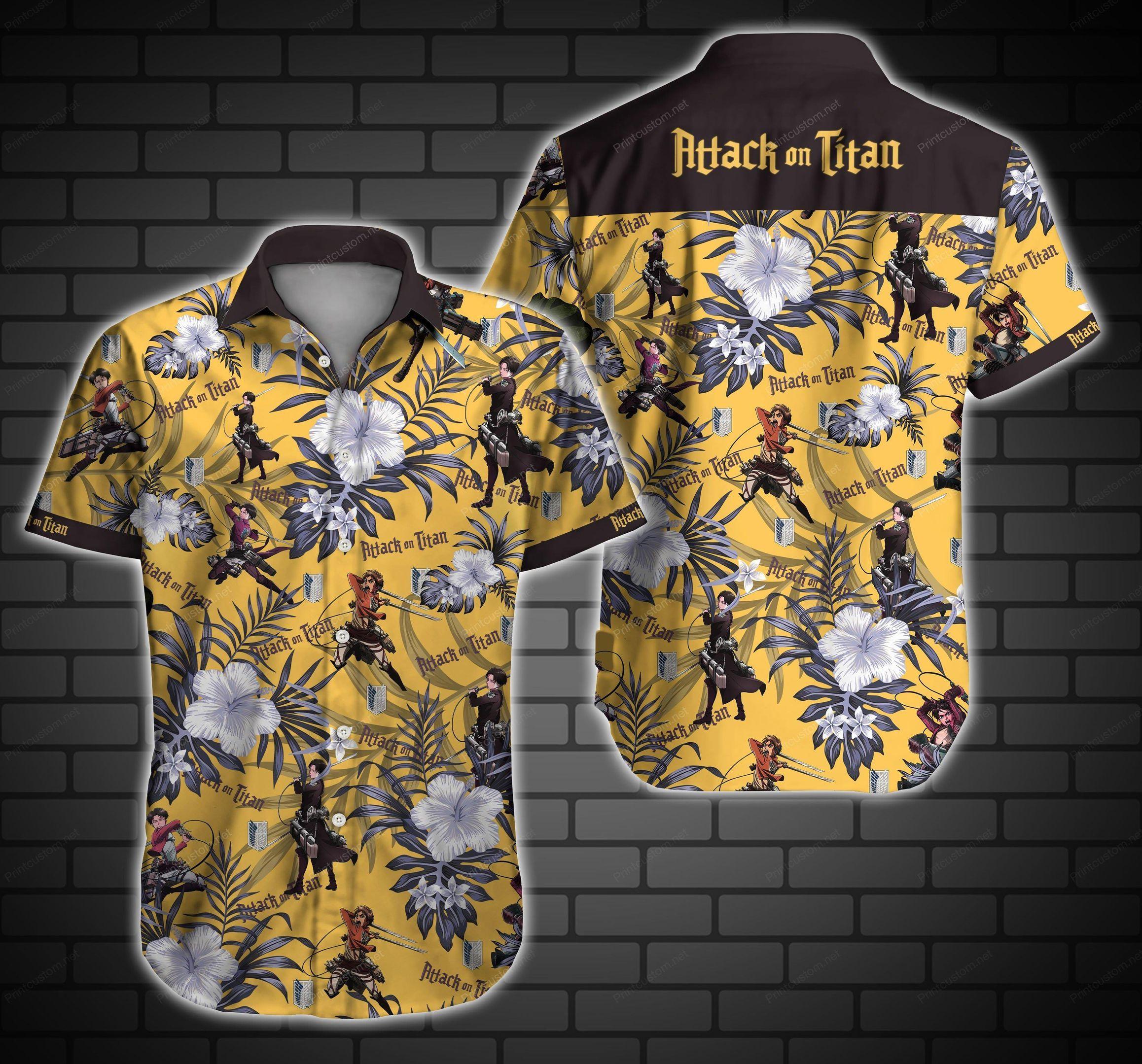 Attack On Titan Hawaiian Shirt Summer Shirt