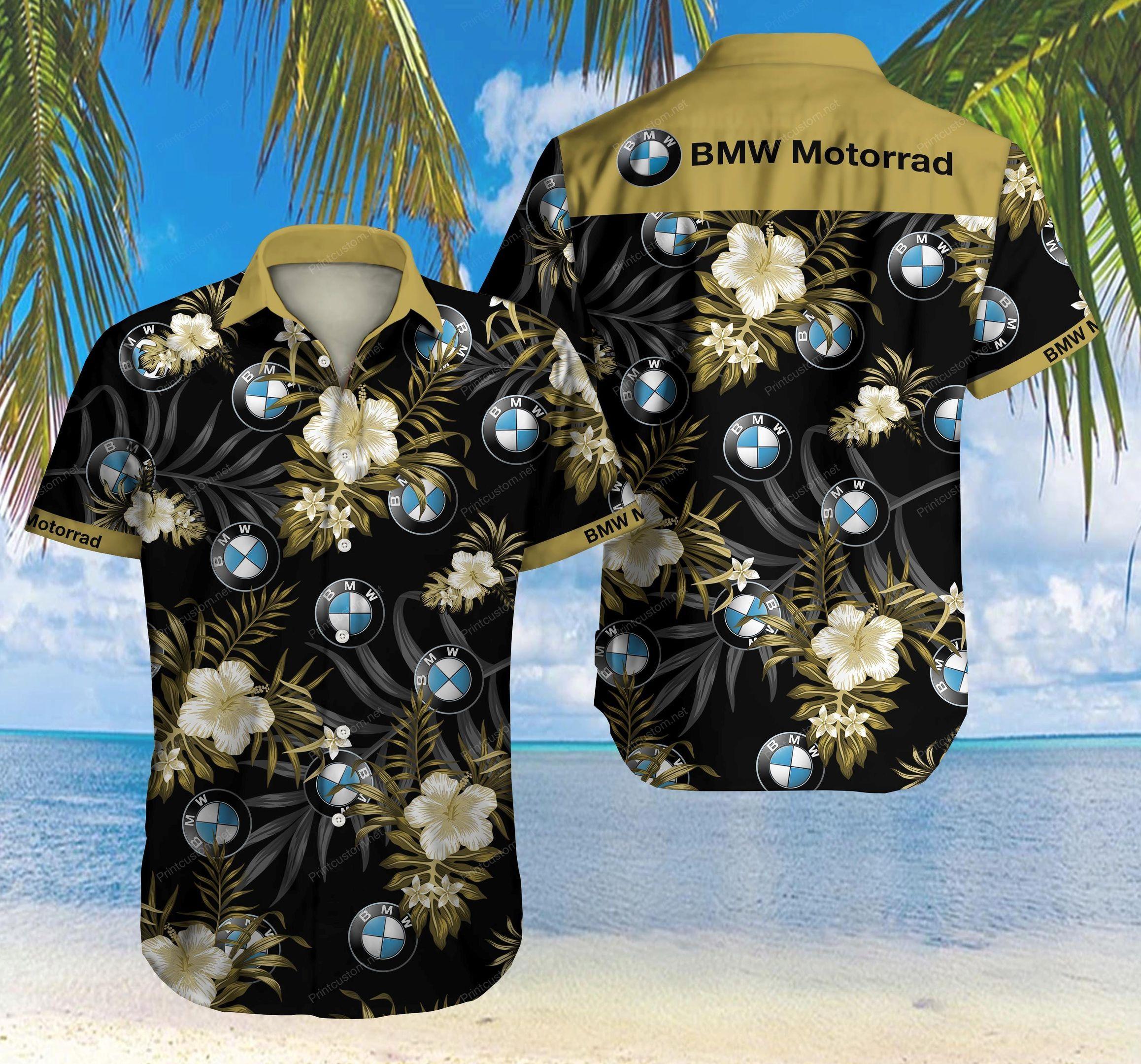BMW Motorrad Hawaiian Shirt Beach Summer Shirt
