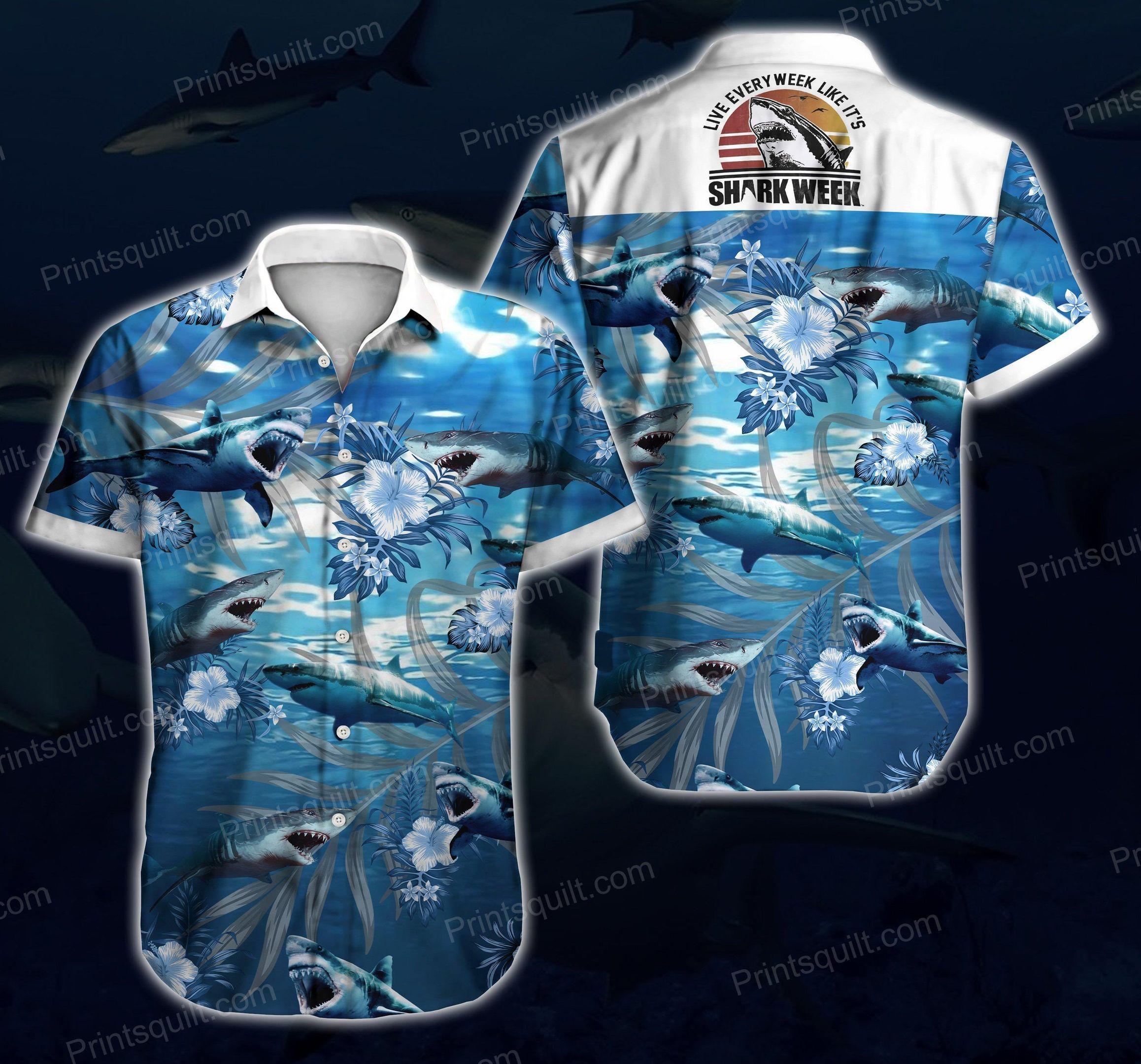 Sharks Lovers 3d Hawaii Shirt Summer Button Up