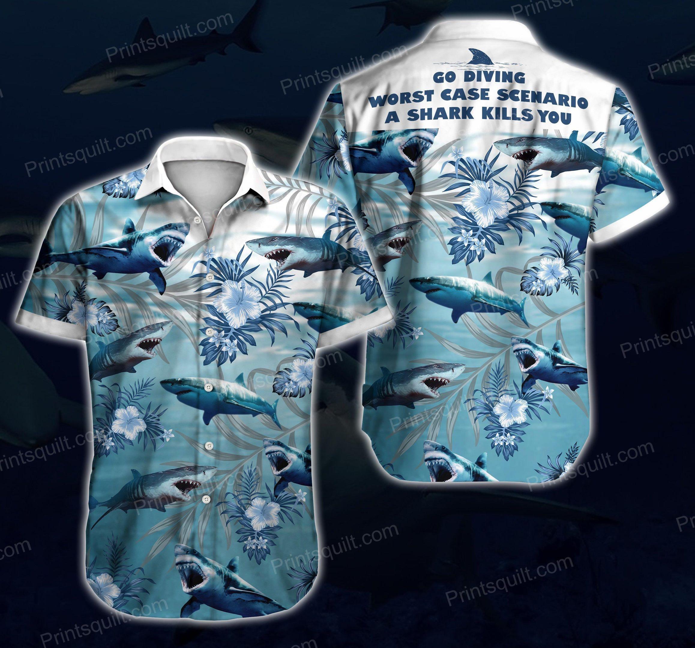 Shark Lovers 3d Hawaii Shirt Summer Beach Wear