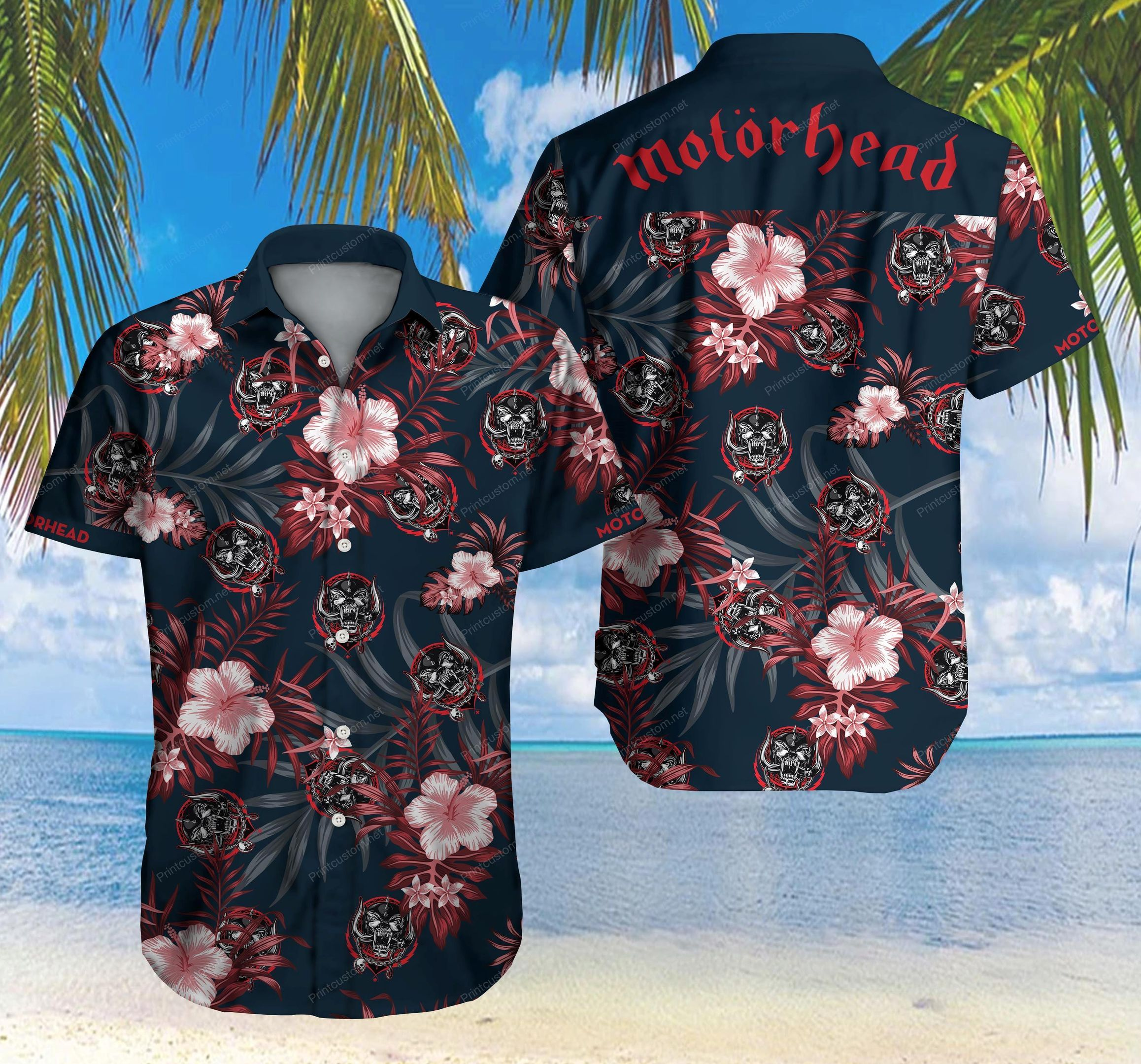 Motorhead Hawaii Shirt Summer Beach Wear