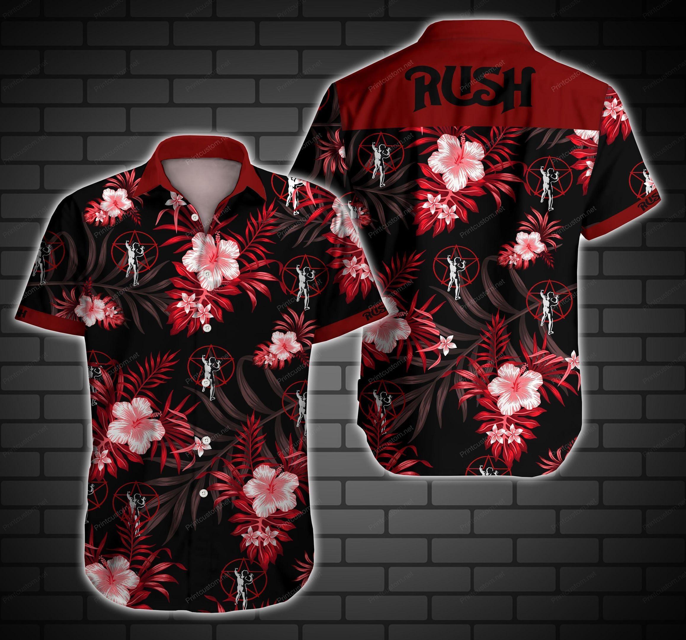 Rush Music Band Logo Hawaii Shirt