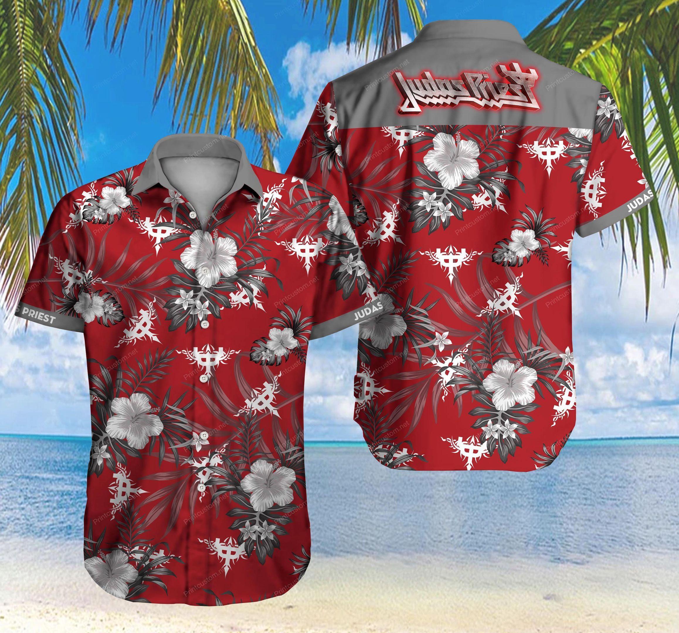 Judas Priest heavy metal band Hawaiian Shirt Summer Shirt