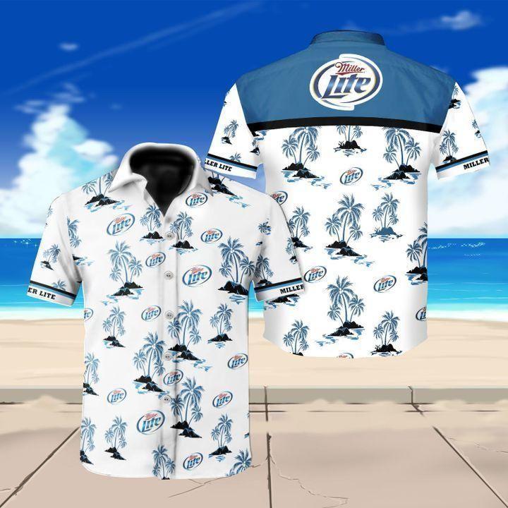 Miller Lite beer Hawaiian Shirt Summer Shirt