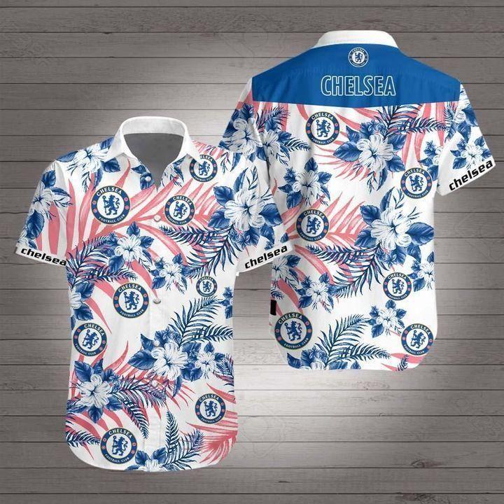 Chelsea Premier League football Hawaiian Shirt Summer Shirt