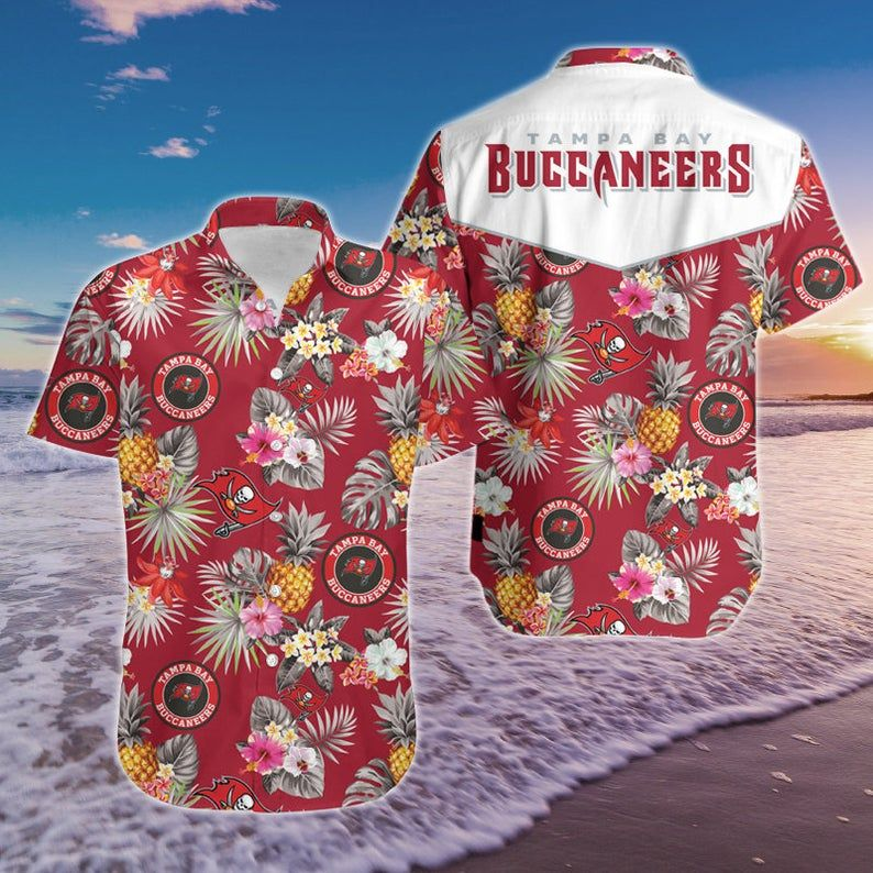 NFL Tampa Bay Buccaneers floral pineapple Hawaiian Shirt