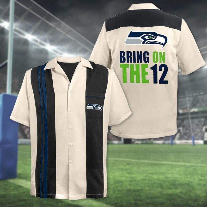 NFL Seattle Seahawks Bring on The 12 Hawaiian Shirt