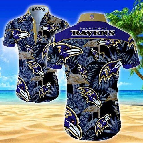 Nfl Baltimore Ravens Classic Premium Hawaiian Shirt