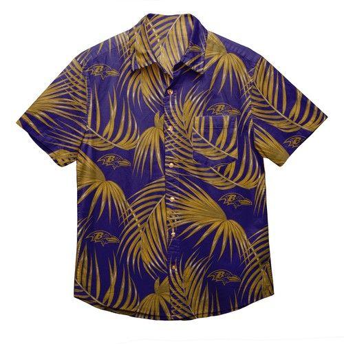 Baltimore Ravens NFL Hawaiian Button Up Shirt