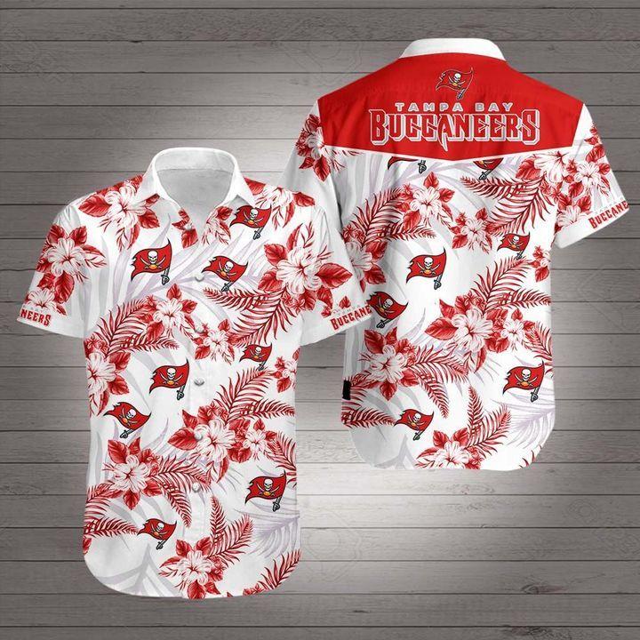 NFL Tampa Bay Buccaneers Floral American football Hawaiian Shirt
