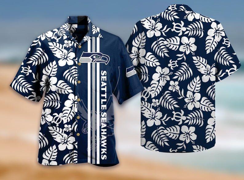 NFL Seattle Seahawks Simple Hawaiian Shirt Summer Beach For Fans