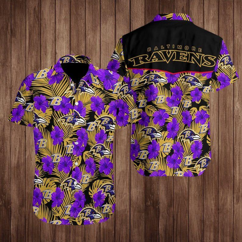 Baltimore Ravens Hawaiian Shirt NFL Football Team For Fans