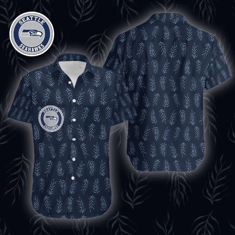 NFL Seattle Seahawks dark tone Hawaiian Shirt