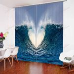 Natural Scenery Seaside Sunset XM0608167CL Window Curtains