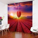 Tree And Heart Landscape XM0608176CL Window Curtains