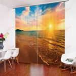 Natural Scenery Seaside Sunset XM0608169CL Window Curtains