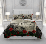 Crow Owl And Poppies Gothic Skull XM2808152CL Bedding Set
