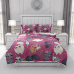 Pink Cats And Roses XM2808218CL Bedding Set