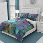 Blue Butterfly Dragonfly XM2808113CL Bedding Set