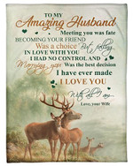 To My Husband I Love You With All I Am YC0309449CL Fleece Blanket