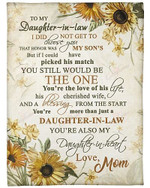 My Daughter In Law You Are His Cherished Wife YC0309193CL Fleece Blanket