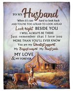 To My Husband You Are My Greatest Support YC0309479CL Fleece Blanket