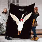 Cute Honk Goose With Red Ribbon YC0209797CL Fleece Blanket