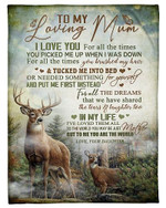 To My Loving Mom I Love You For All The Times YC0309496CL Fleece Blanket