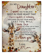 My Daughter I Will Love You For The Rest Of Mine YC0309295CL Fleece Blanket