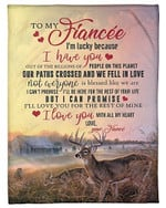 To My Fianc�e I Love You With All My Heart YC0309394CL Fleece Blanket
