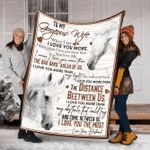 Horse To My Gorgeous Wife YC0109213CL Fleece Blanket