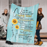 To My Niece Never Forget That I Love You YC0209094CL Fleece Blanket